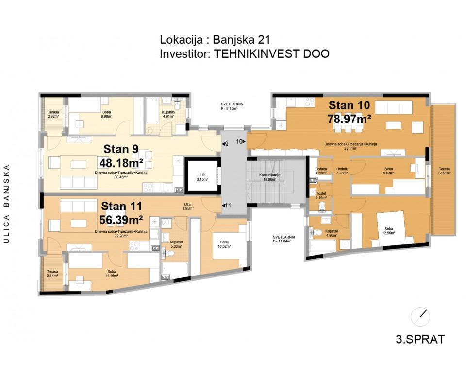 New building in Belgrade, Zvezdara - Residential-commercial building in 21 Banjska Street