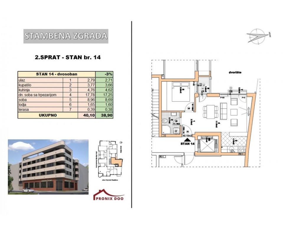 Novogradnja Novi Sad Centar - Vojvode Šupljikca 25