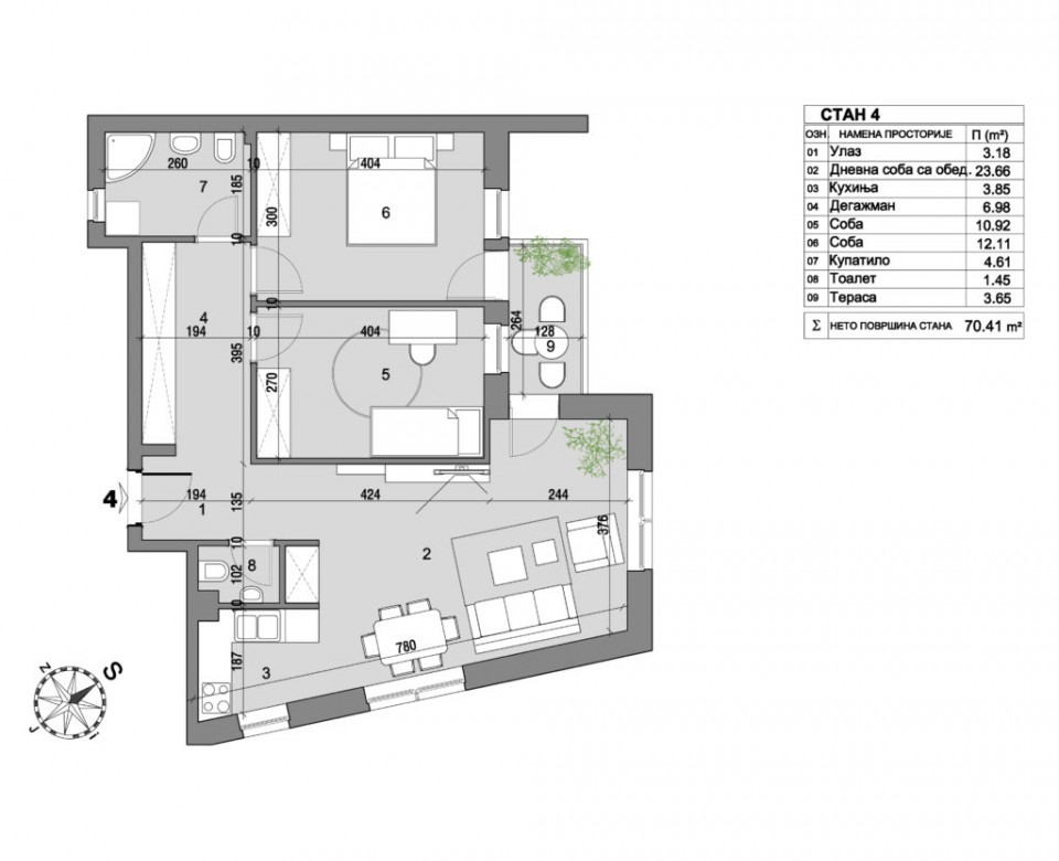 Apartment 4 floor plan