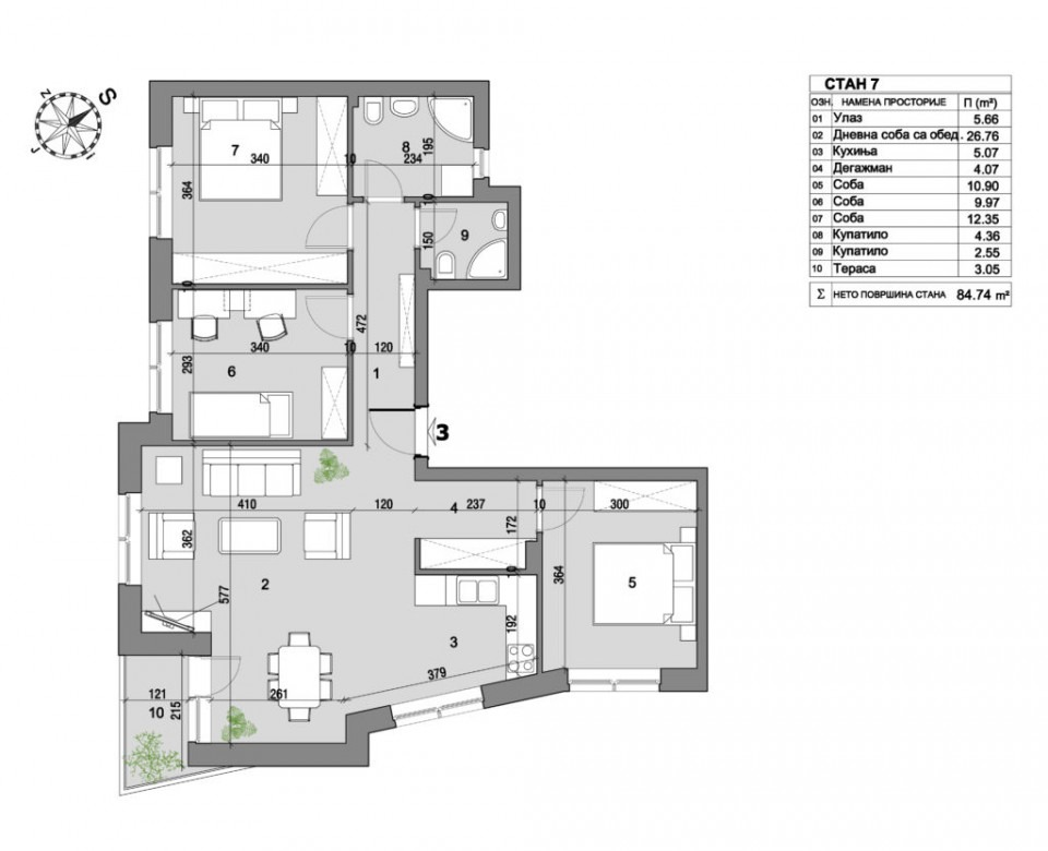Apartment 6 floor plan