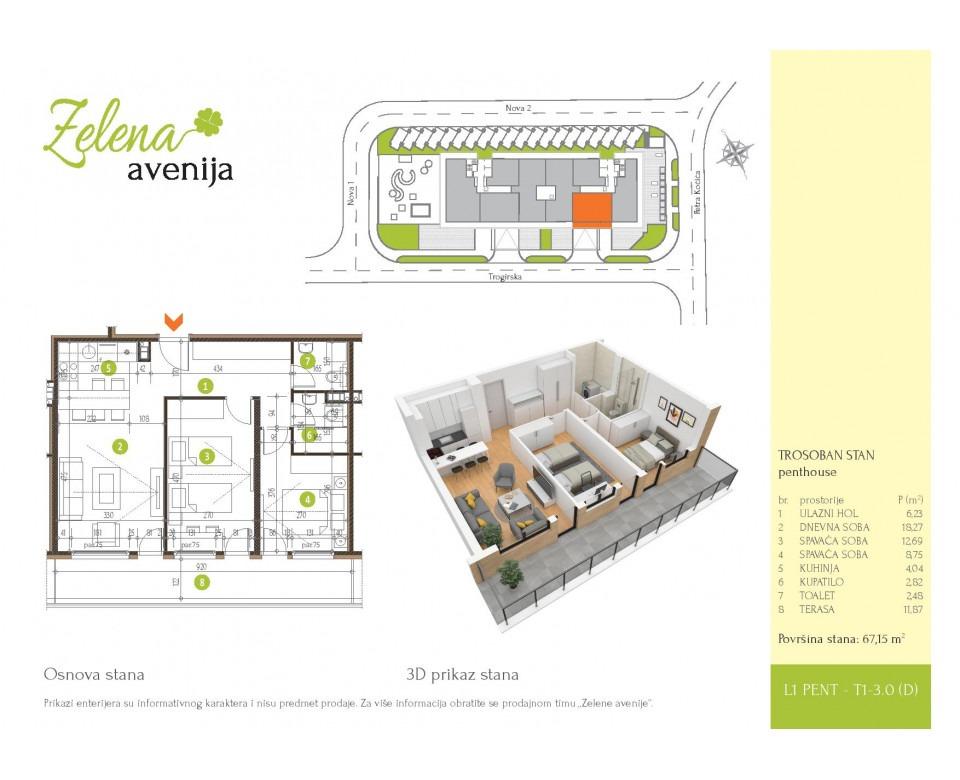 Novogradnja Zemun - Stambeno-poslovni kompleks Zelena avenija