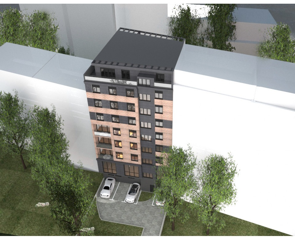New construction in Vracar - a residential-office building at 36 Maksima Gorkog street