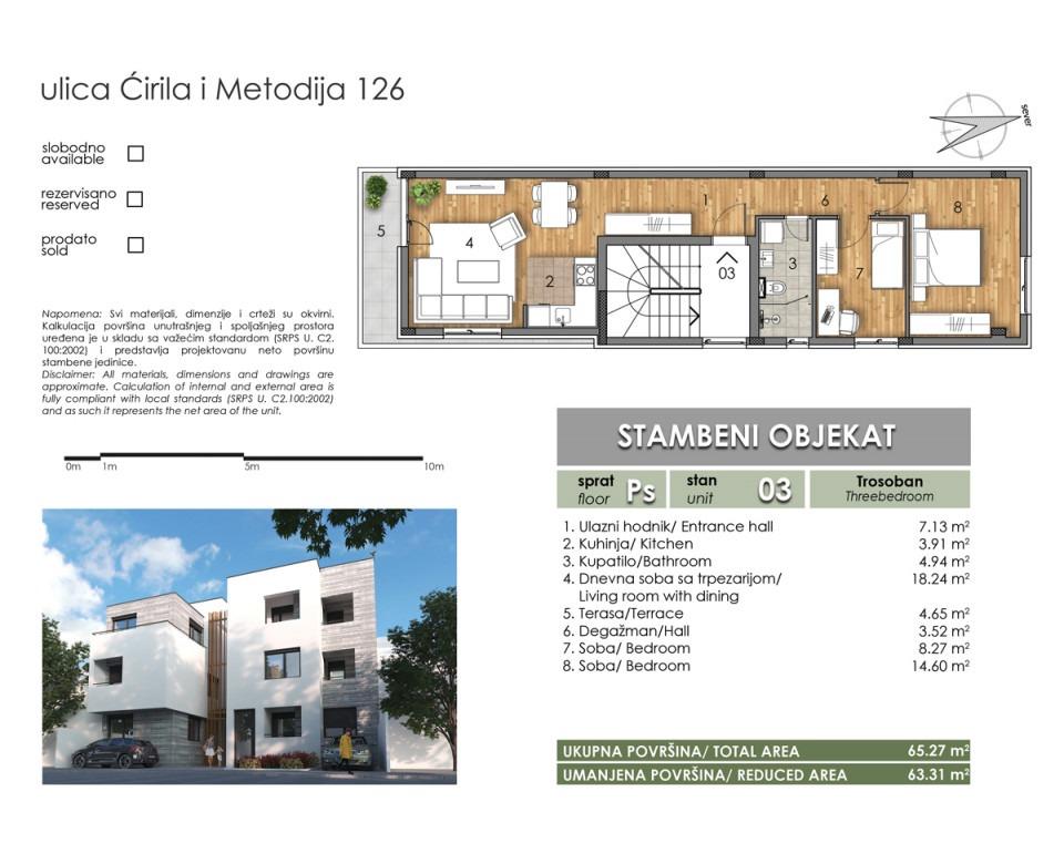 Novogradnja u Novom Sadu - Two Homes - Stambeni objekat u Ćirila i Metodija 126, Novi Sad